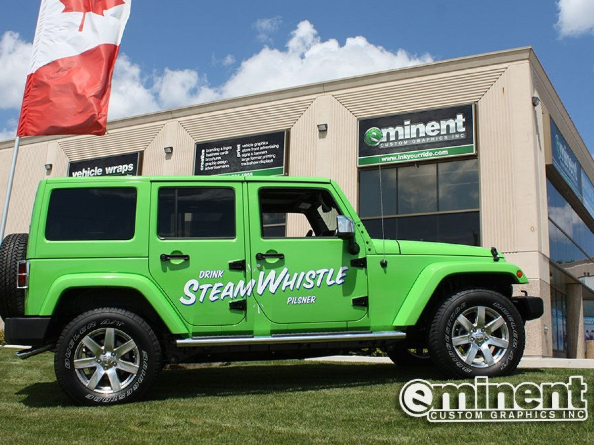 Steam Whistle jeep wrap
