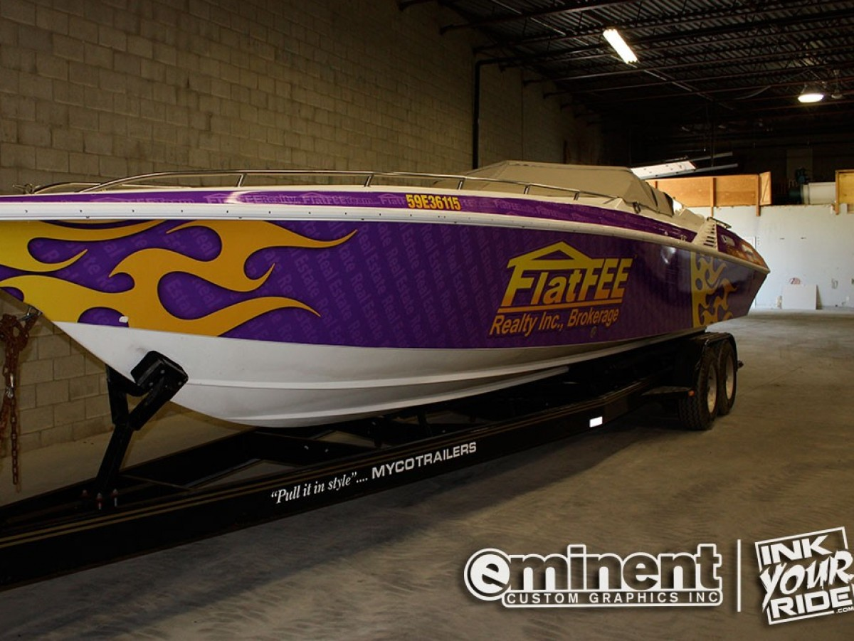 boat wrap graphics flat fee realty